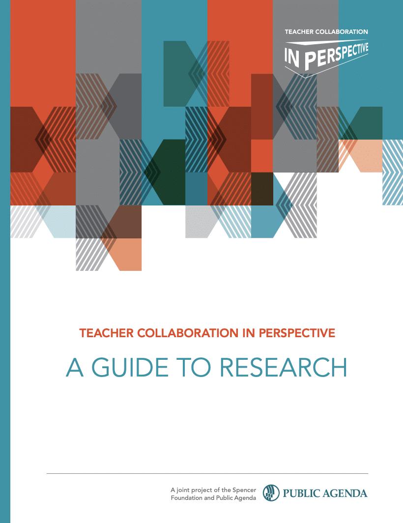 Teacher Collaboration Report Cover