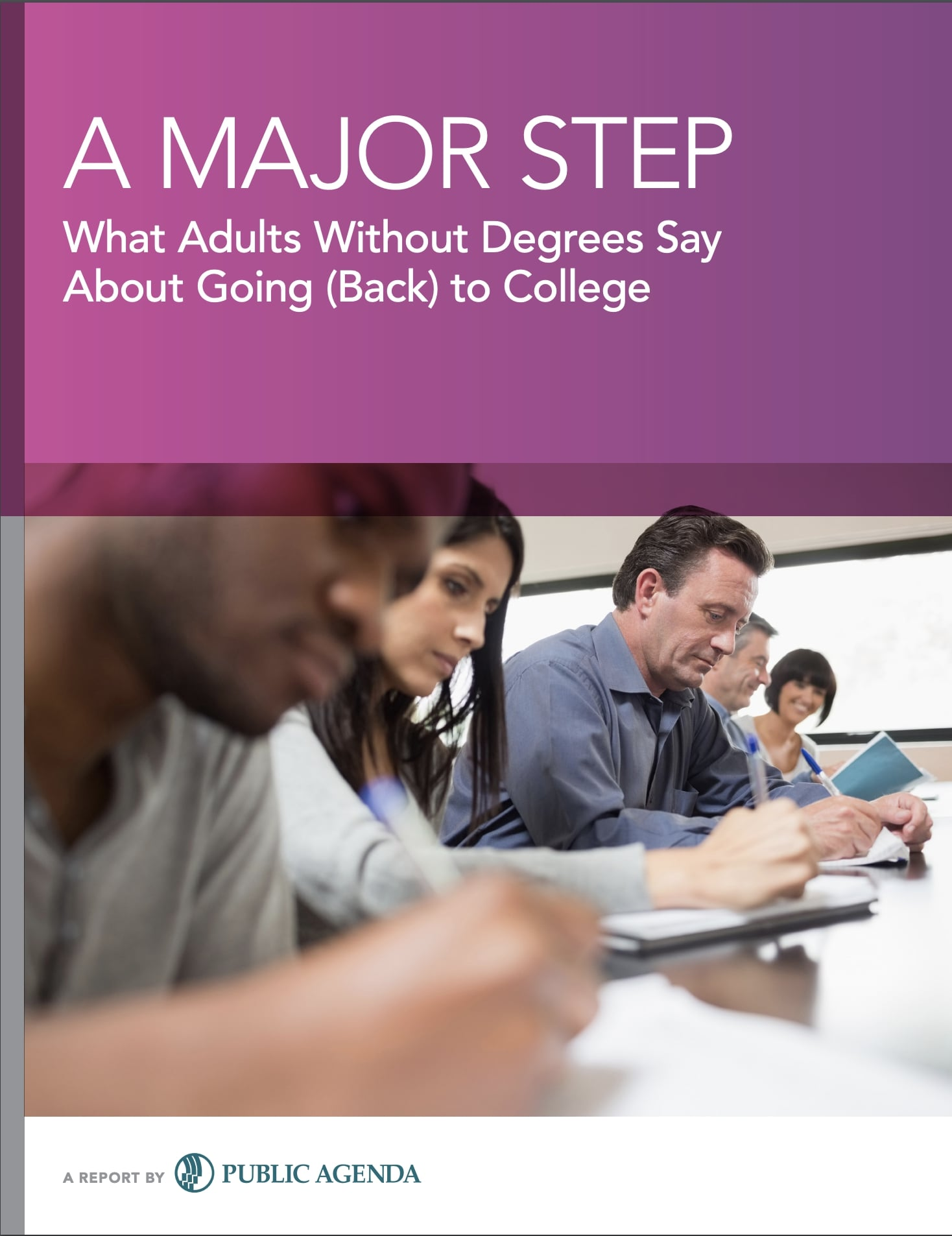 A Major Step Report Cover