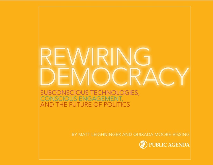 Rewiring Democracy Report Cover