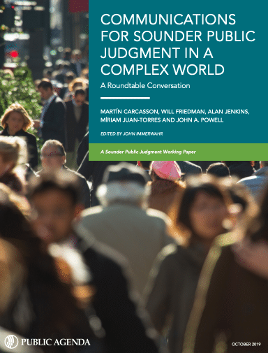 Communications For Sounder Public Judgment Cover